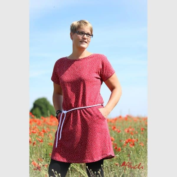 Stoffonkel- Organic Jersey Dotties cherry (GOTS) organic jersey dotties cherry gots 6