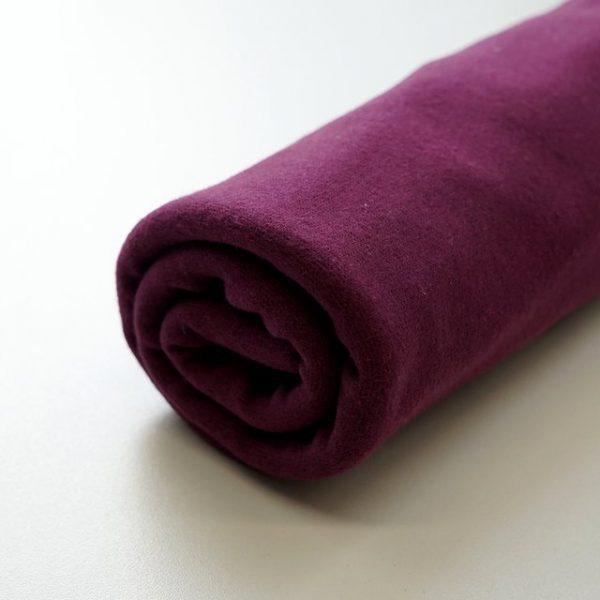 Stoffonkel- Organic ribs - plum (GOTS)